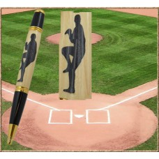 Baseball Pitcher Inlay Pen