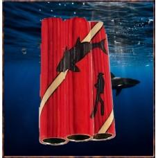 Diver/Shark Inlay Pen