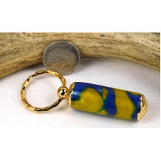 Blue Gold Swirl Pill Case