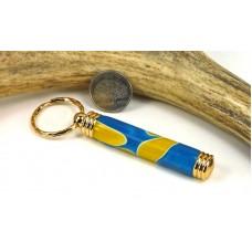Blue Yellow Swirl Toothpick Holder
