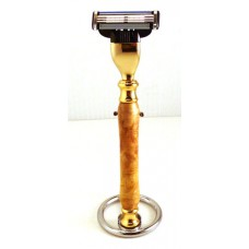 Buckeye Burl Razor Handle