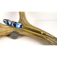 Ocean Camo .338 Winchester magnum Rifle Cartridge Pen